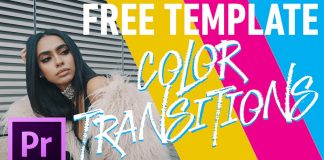 Color Transitions - Premiere Pro Free Template