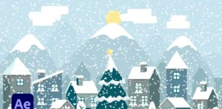 Winter Vector Animation In After Effects